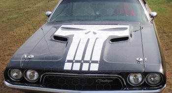 Dodge Challenger Hood Blackout T Hood Decal Vinyl
