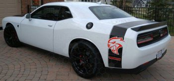 2008 to 2014 Dodge Challenger Rear Bumblebee Tail Stripes