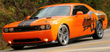 2008 to 2014 Dodge Challenger Drag Pack Splatter Stripes