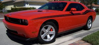 2008 to 2014 Dodge Challenger Full Length Slim Upper Body Stripes