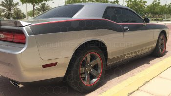 2008 to 2014 Dodge Challenger Full Length Upper Body Stripes