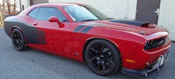 2008 to 2014 Dodge Challenger Rear Billboard Side Stripes