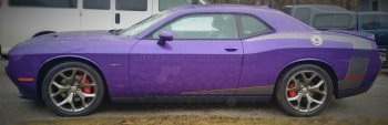 2008 to 2014 Dodge Challenger Reverse C Side Stripes