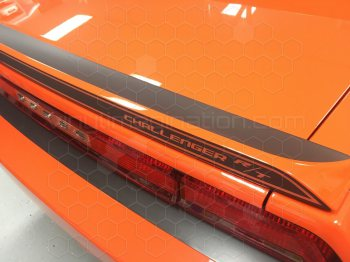2008 to 2014 Dodge Challenger Rear Spoiler Blackout Decal