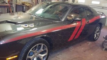 2008 to 2014 Dodge Challenger Trans-Am Side Stripes