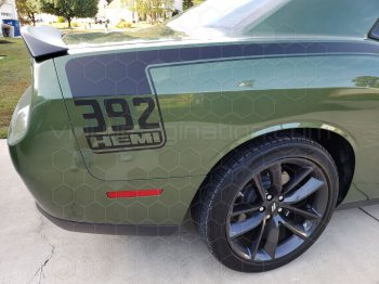 2015 Dodge Challenger Full Length Hockey Pinstripes