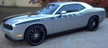 2015 Dodge Challenger Full Length Slim Upper Body Stripes