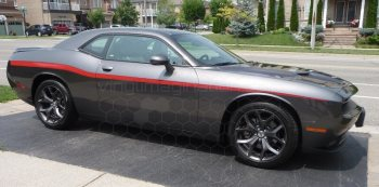 2015 Dodge Challenger Yellow Jacket Style Beltline Stripes