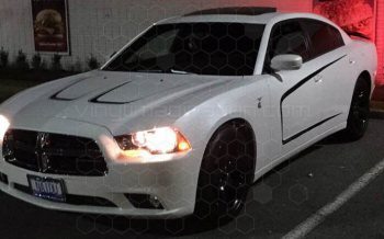 2011 Dodge Charger Hood Scallop Accents