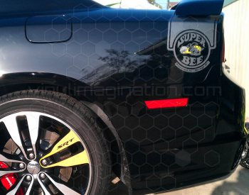 2011 Dodge Charger Super Bee Tail Stripes
