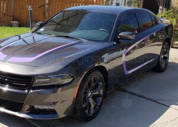 2015 Dodge Charger Hockey Stick Hood Accent Stripes