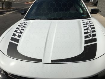 2015 Dodge Charger Hockey Stick Hood Stripes