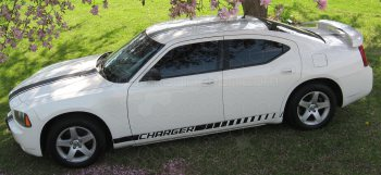 2006 to 2010 Dodge Charger Rocker Panel Stripes