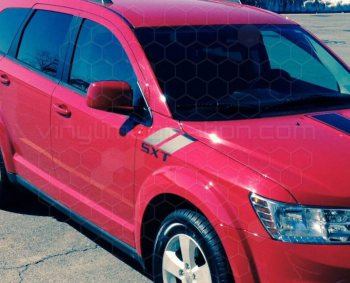 2009 to Present Dodge Journey Hood Fender Hash Stripes