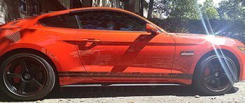 2015 to Present Ford Mustang Rocker Panel Stripes