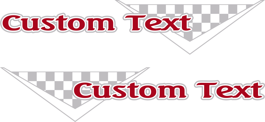 Motorcycle Checkered V Gas Tank Decals Design Image