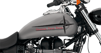 Image of Spiral Four Star Gas Tank Decals