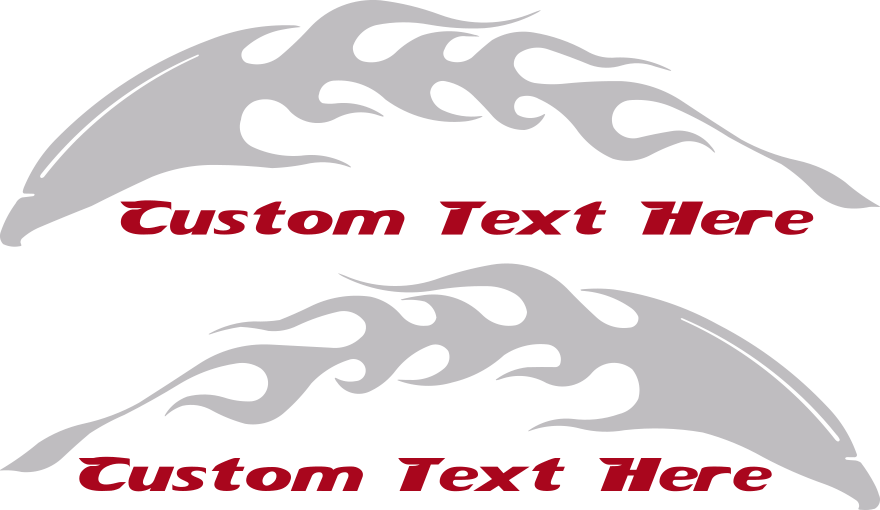 Motorcycle Flaming Eagle FE1 Gas Tank Decals Design Image
