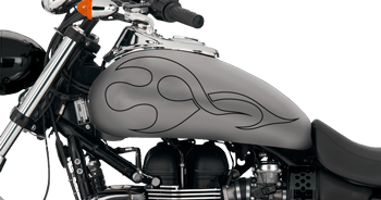 Image of Flames Style S10 Motorcycle Graphics