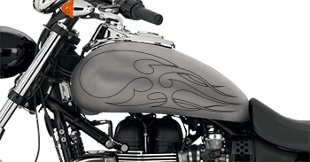 Image of Flames Style S3 Motorcycle Graphics