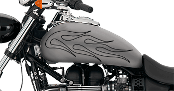 Image of Flames Style S5 Motorcycle Graphics