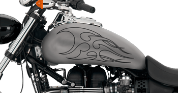 Image of Flames Style S7 Motorcycle Graphics