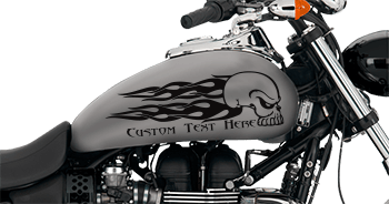 Image of Flaming Skull FS6 Motorcycle Graphics