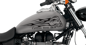 Image of Flaming Skull FS8 Motorcycle Graphics