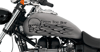 Image of Flaming Skull FS9 Motorcycle Graphics