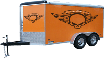 Winged Skull Gas Tank Decals