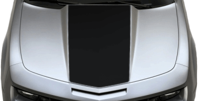 View 2010 to 2013 Chevy Camaro with and without Center Hood / Cowl Decal Graphics installed.