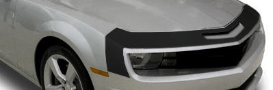 View 2010 to 2013 Chevy Camaro with and without Front Fascia Nose Stripe Graphics installed.