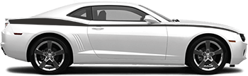 Full Length Upper Side Stripes on the 2010 to 2013 Chevy Camaro