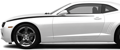 2010-2013 Camaro Front Upper Accent Stripes on vehicle image.