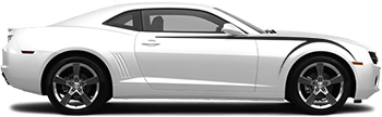 Front Upper Scythe Stripes on the 2010 to 2013 Chevy Camaro