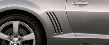 Faux Vent Accents on the 2010 to 2013 Chevy Camaro