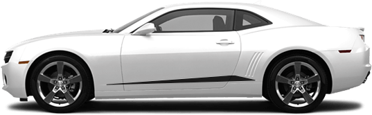 View 2010 to 2013 Chevy Camaro with and without Rocker Panel Spears Graphics installed.