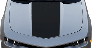 2014-2015 Camaro Center Hood / Cowl Decal on vehicle image.