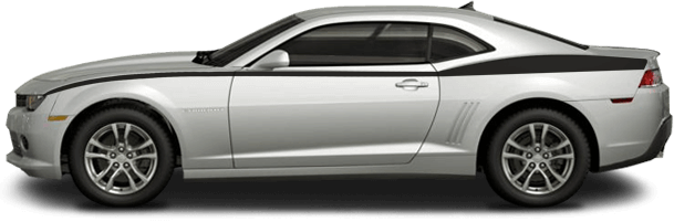 2014-2015 Camaro Full Length Upper Side Stripes on vehicle image.