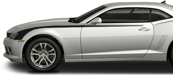 Front Side Hockey Stripes on the 2014 to 2015 Chevy Camaro