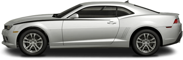 2014-2015 Camaro Front Upper Accent Stripes on vehicle image.