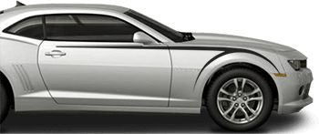 Front Upper Scythe Stripes on the 2014 to 2015 Chevy Camaro