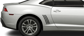 Faux Vent Accents on the 2014 to 2015 Chevy Camaro