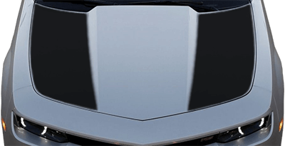 2014-2015 Camaro Hood Side Blackouts / Stripes on vehicle image.