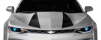 Hood Spear Stripes on the 2016 to Present Chevy Camaro