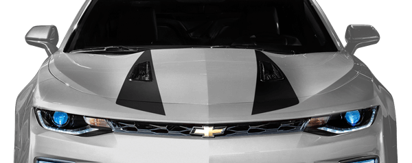 2016-2018 Camaro Hood Spear Stripes on vehicle image.