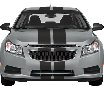 Rallye Racing Stripes for the 2012 to 2014 Chevy Cruze