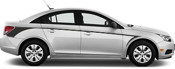 Side Rear Hockey Barbs for the 2012 to 2014 Chevy Cruze