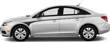 Side Front Contour Needles for the 2012 to 2014 Chevy Cruze