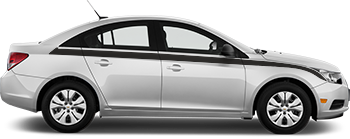 Side Upper Main 5/6 Stripes for the 2012 to 2014 Chevy Cruze